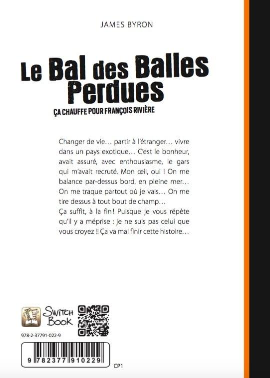 Roman personnalisé Le Bal des Balles Perdues dos 88k
