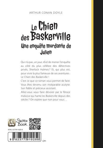 roman personnalisé le chien des baskerville dos