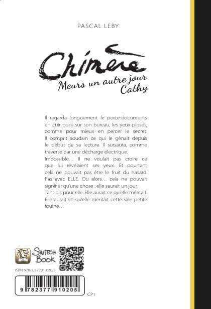 roman personnalisé Chimère dos 430x616