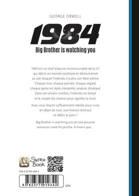 roman personnalisé science-fiction 1984 - format 451x636 dos-neutre