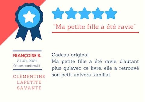 Avis-clients-livre-personnalise-clementine-la-petite-savante