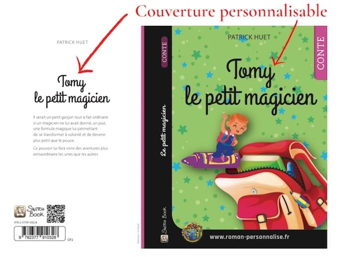 Couverture personnalisable roman personnalisé Tomy le petit magicien