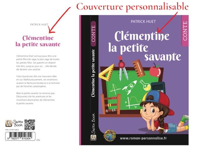 Couverture-roman-personnalisé-Clémentine-la-petite-savante 680x515
