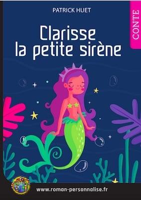 livre personnalisé enfant Laetitia la petite sirène personnalisé pour Clarisse