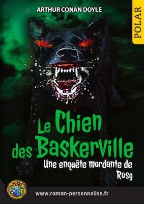 livre personnalisé aventure et policier femme Le chien des Baskerville personnalisé pour Rosy