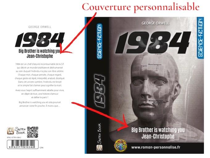 roman personnalisé science-fiction 1984 couverture personnalisable 680x510